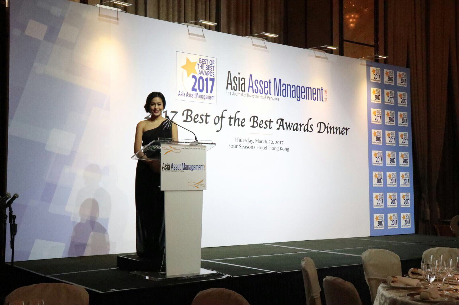 Xaviera Yau司儀工作紀錄: Asia Asset Management - Best of the Best Awards dinner 2017